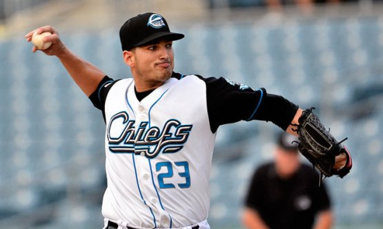 Garcia tossing in a rehab assignment last year. (Credit: Gary Walts/Syracuse.com)