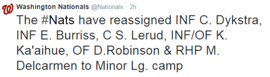 Nats March 27 moves