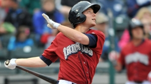 Lehigh Valley IronPigs Cody Asche is down in Triple-A to learn the outfield (Photo credit: Ken Inness/MiLB.com)