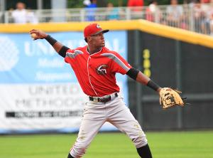Alen Hanson is doing it all this season at the plate and on the base paths. Hanson is 14-18 on stolen base attempts through May 24. (Photo Credit: WILL BENTZEL)