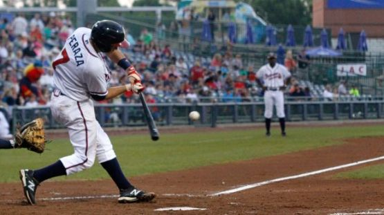 Jose Peraza is ranked the number one prospect in the Braves organization by Baseball America