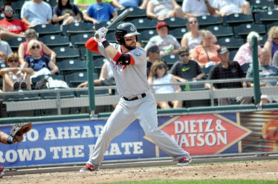 Martinson has always known he's a power hitter and leads the Chiefs in home runs in 2015. (Photo Credit: Justin Lafleur)