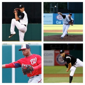 (Clockwise L-R) A.J. Cole, Taylor Jordan and Matt Grace are set to return to Syracuse in 2016 while Wilmer Difo will make his Chiefs debut.