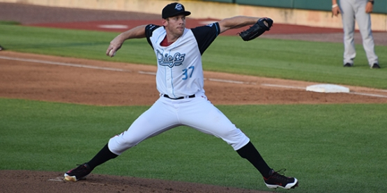 Stephen Strasburg made two rehab starts with the Chiefs in 2015 (Syracuse Chiefs)