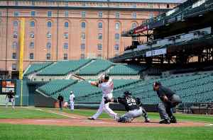 The Orioles and White Sox played in an empty stadium last season (Greg Fiume/Getty Images)