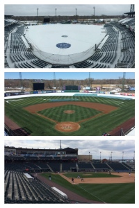 Snow and Cold early in the week forced the Chiefs to move their opener to an empty Coca-Cola Park at Lehigh Valley.
